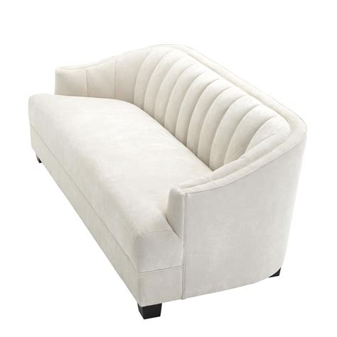 Polaris Sofa by Polaris Scalloped Sofa Ecru Velvet Said