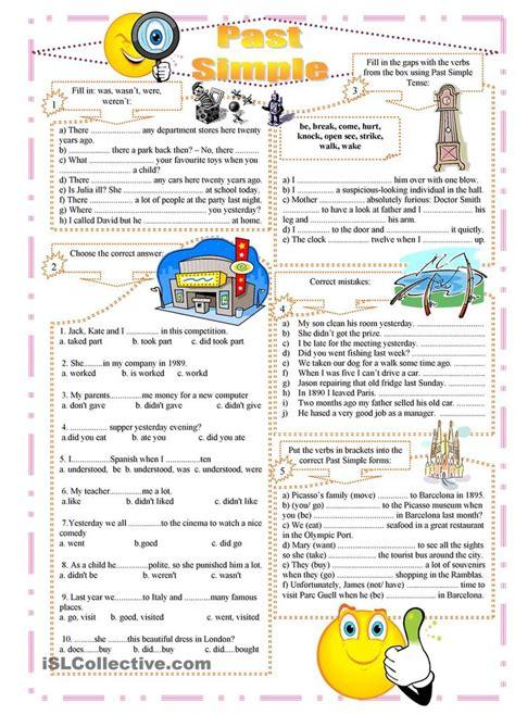 past tense exercises worksheets best 25 tenses exercises ideas on