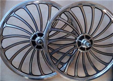 Handmade Bike Wheels - new 20 quot custom alloy machined wheel set bmx lowrider