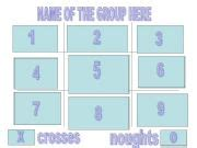 esl english powerpoints template for the game tic tac toe