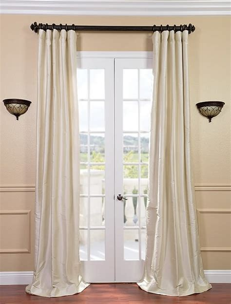 white silk drapes pearl white thai silk curtains traditional curtains