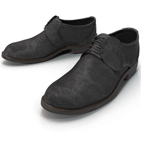 mens black shoes 3d model