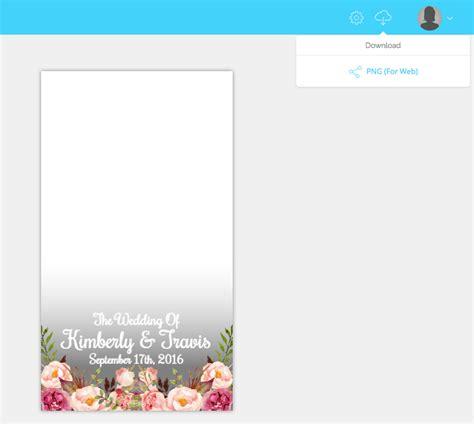 Edit Snapchat Filters With Templett Templett Blog Snapchat Wedding Geofilter Template