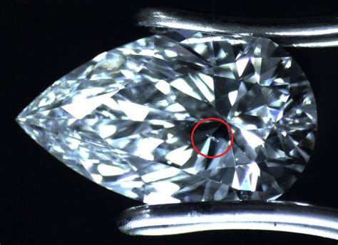 what does table in diamonds different types of inclusions in a magnified