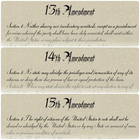abraham lincoln 14th amendment these are the 13th 14th and 15th amendments of the