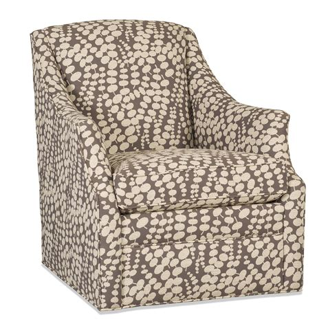 Transitional Skirted Swivel Chair By Sam Moore Wolf And Sam Swivel Chair
