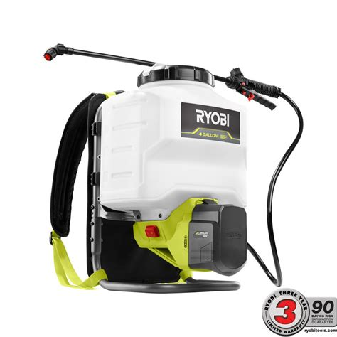 home depot paint sprayer ryobi ryobi one 18 volt lithium ion cordless backpack chemical