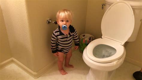 bathroom accidents in older children baby floods the house youtube