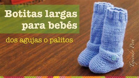 batitas en crochet y dos agujas para bebes 180 00 en mercadolibre botas largas tejidas en dos agujas para beb 233 s youtube