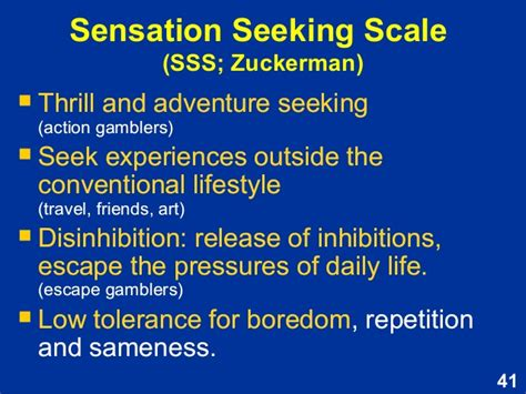 Sensation seeking relationships marriage