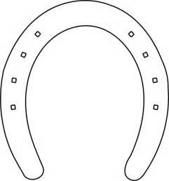 horseshoe template horseshoe applique clip at clker vector clip