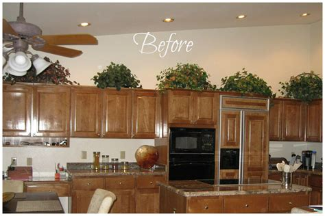 decorate tops of kitchen cabinets for