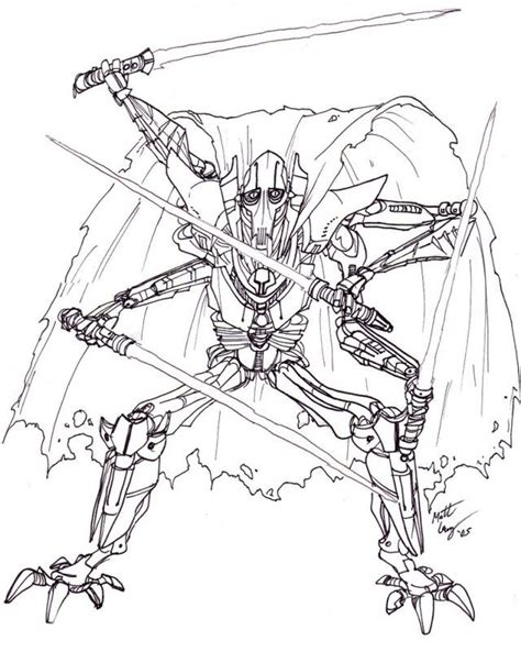 Star Wars General Grievous Coloring Pages Az Coloring Pages General Grievous Coloring Page