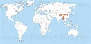 Burma World Map by Burma Maps Maps Of Burma Myanmar Ontheworldmap Com