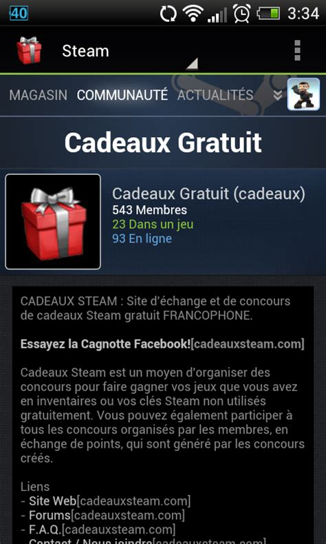 cadeaux steam android apps on play