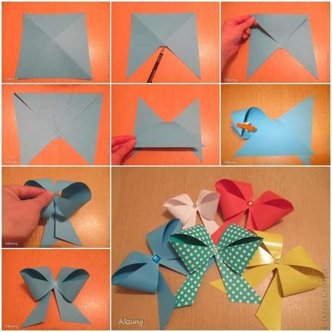 Useful Paper Crafts - craft these easy paper bows in just a few minutes