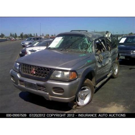 mitsubishi montero sport parts catalog used 2001 mitsubishi montero sport parts car gold with