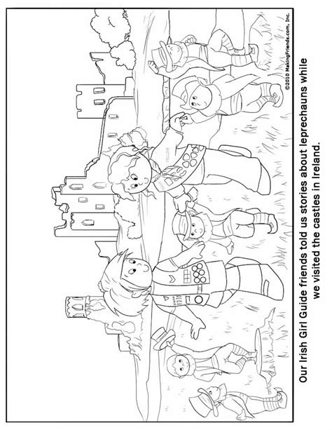 Irish Girl Guide Coloring Page Guide Coloring Pages