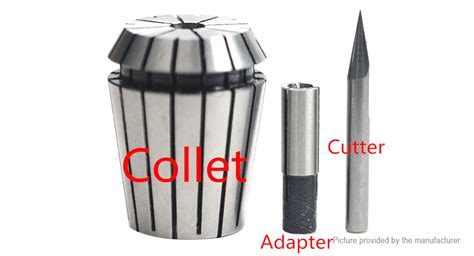adapter adaptor collet mesin router 12 ke 14 14 07 12 7mm cnc router tool shank collet adapter 5 pack