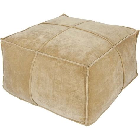 gold ottomans surya cotton velvet square pouf ottoman in gold cvpf 002