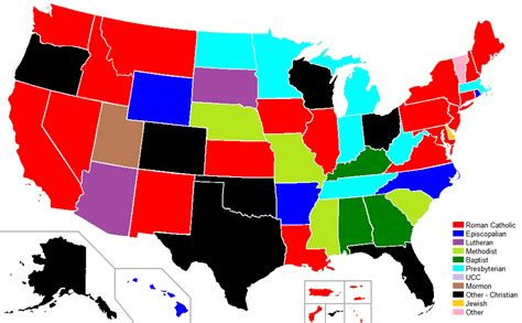 us map governors 13 insightful maps of u s religion churchpop