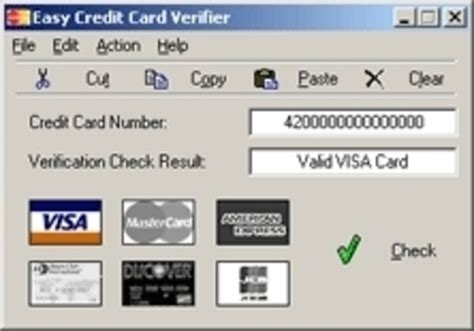 how to make a valid credit card number easy credit card verifier screenshot