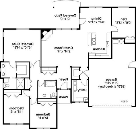 masculine floor plans for ranch homes with wrap around
