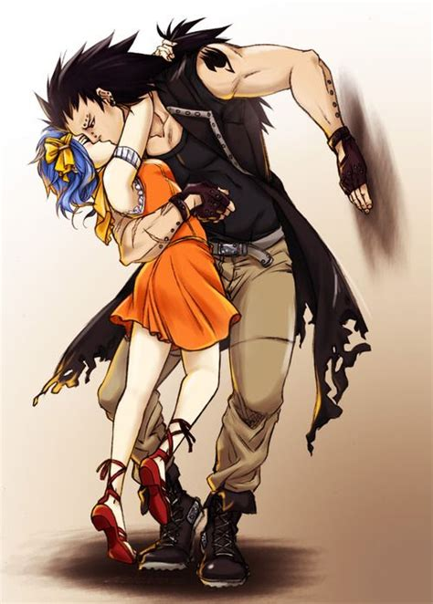 gajeel and levy gajeel redfox levy mcgarden gale anime