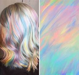 hair pictures holographic hair is the hot new trend of 2017