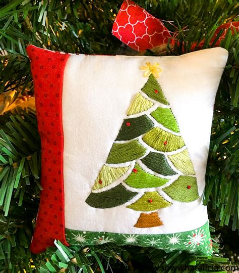 christmas tree pattern to sew embroidered christmas tree pattern and tutorial sew what