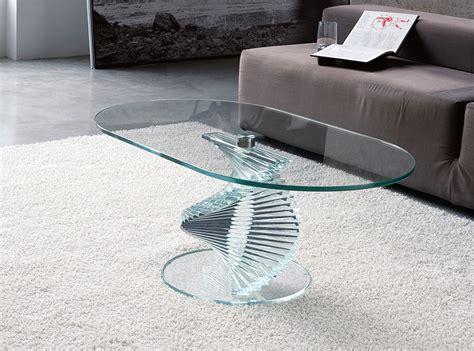 Designer Glass Coffee Tables Unico Contemporary Rigiro Oval Glass Coffee Table In 2 Finish Options