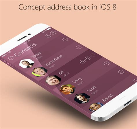 application design books mobile app design inspiration concept address book in