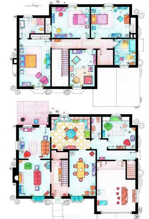 azulejos simpson as 237 son los planos de las casas de tus series favoritas