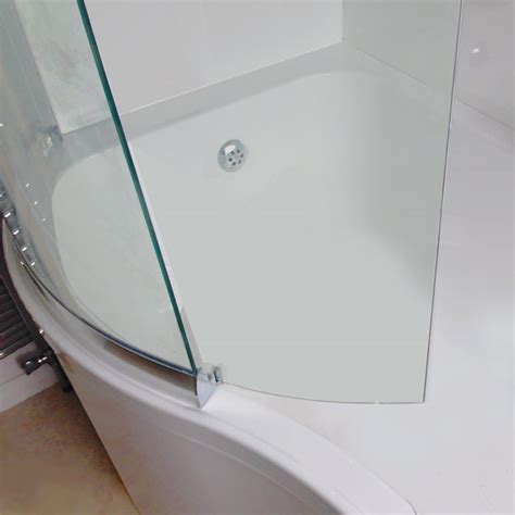 p shaped bath shower screen sommer p shaped shower bath 1700mm inc sliding screen