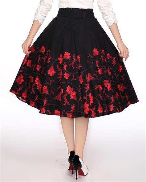 swing dance skirt rk106 1950s floral flower circle swing dance skirt