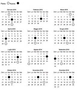 Calendario Fasi Lunari 2018 Calendario Lunare 2018 La Gravidanza