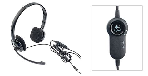 Stereo Headset Logitech H151 logitech h151 stereo on ear headset w mic