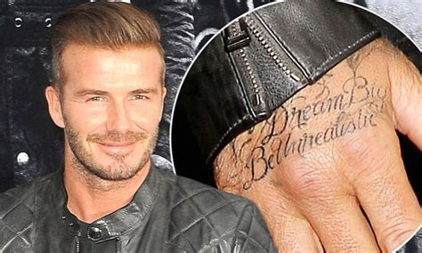 david beckham hand tattoo david beckham unveils new z inspired on his