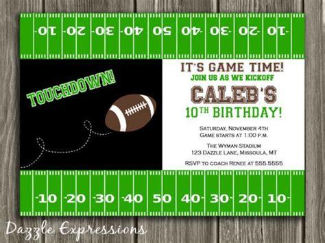 printable birthday invitations football theme printable football birthday invitation boy sports