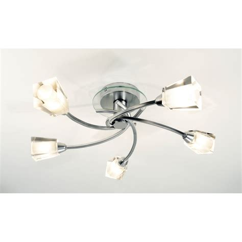 kitchen ceiling fans with bright lights dar dar aus0550 5 light modern flush ceiling light