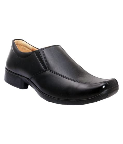 bata black artificial leather formal shoes price in india