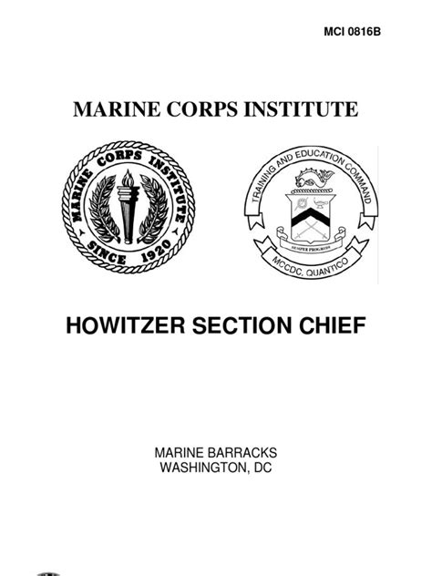 Section Chief by Howitzer Section Chief Artillery Compass