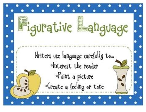 printable figurative language poster 80 best grammar posters images on pinterest english