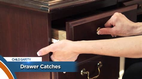 How To Add A Lock To A Drawer by Child Safety Tip Drawer Catch 149