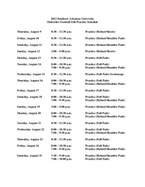 football practice schedule template search results for football practice schedle calendar 2015