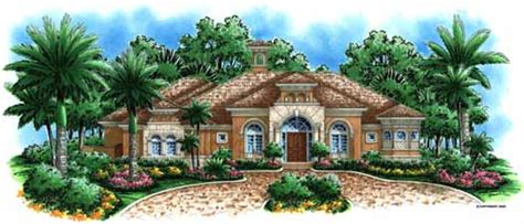 Mediterranean Style House Plans 4928 Square Foot Home 1 Story 4 Bedroom Mediterranean House Plans