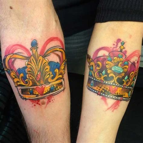 king and queen tattoo for couples 50 cute king and queen tattoo for couples dzinemag