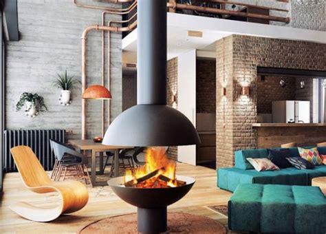 cheminee centrale suspendu central designer fireplace focus