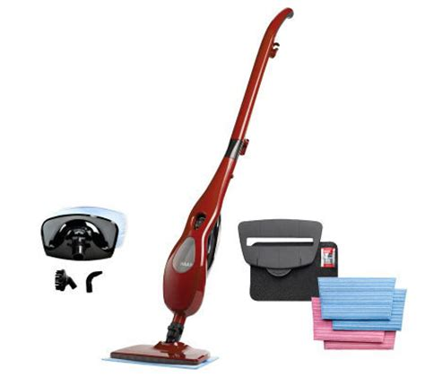 haan multi steam cleaner with handheld 4microfiberpads withattachments qvc