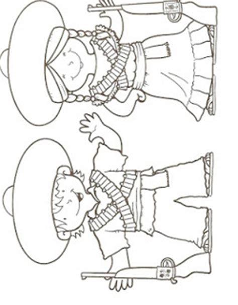 imagenes revolucion mexicana para colorear preescolar la revoluci 243 n mexicana dibujos para colorear ciclo escolar